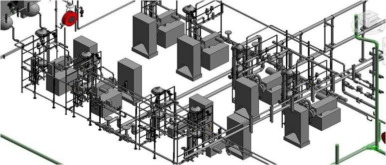 BUILDING 213 WATER PURIFICATION PLANT – 3D MODEL WITH FABRICATION AND SPOOL DRAWINGS