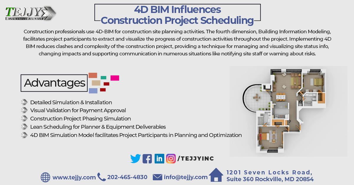 4D BIM Scheduling services in usa