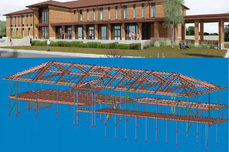 Structural Steel Project for commercial construction project