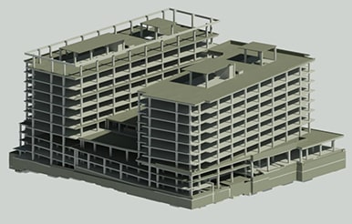 Structural 3d bim modeling in DC