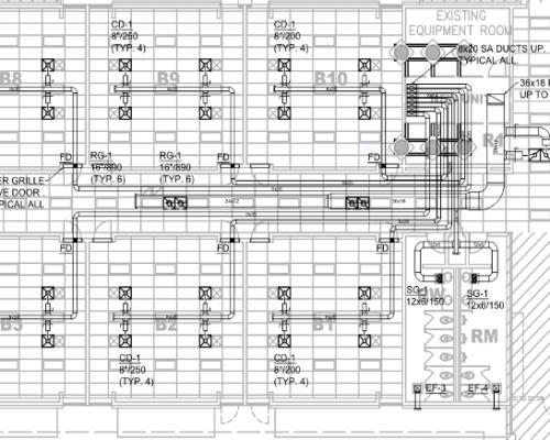 MEP HVAC Shop Drawings Services